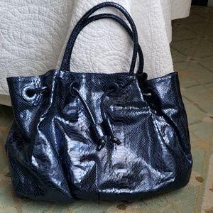 Carlos Falchi Snake-Embossed Bag